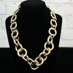 J. Crew Chain Link Goldtone Chunky Necklace